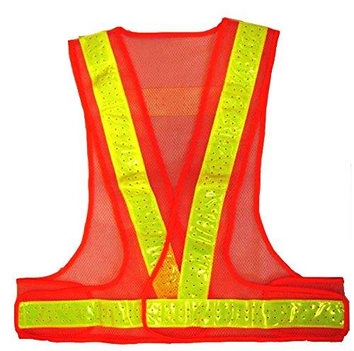 エース神戸 夏用サマーベスト 反射材付安全ベスト オレンジメッシュ黄反射SV50-OL
