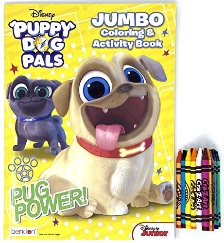 Puppy Dog Pals Coloring & Activity Book – 1 Pack with Crayons Multi Color