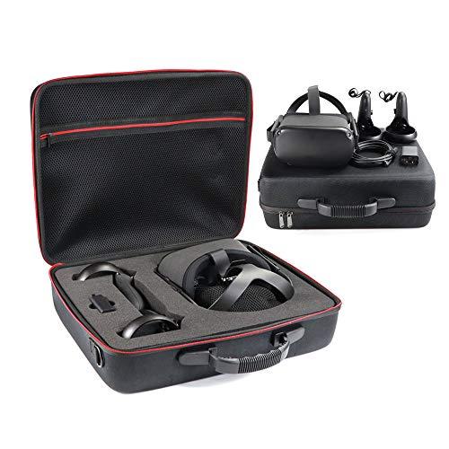 KT-CASE für Oculus Quest 2 ,Oculus Quest All-in-one VR Gaming Headset Box,Hart Reise Schutz Hülle Etui Tasche VR Koffer (Black)