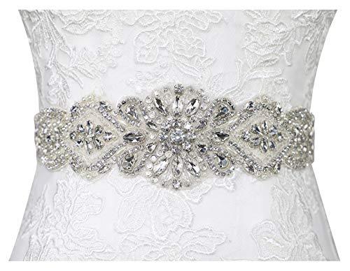 Lovful Womens Rhinestone Sash Belts for Dresses Bridal Belt Crystal Wedding Bridesmaid Belt