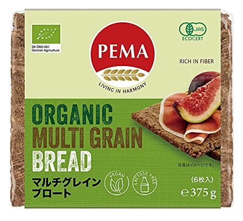 PEMA 有機全粒ライ麦パン(マルチグレインブロート) 375g(6枚) 16パック