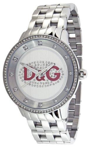 D&G DW0144 - Reloj de Señora Movimiento de Cuarzo con Brazalete metálico Plata