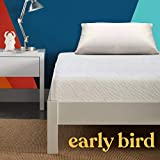 Early Bird Essentials 8-inch Medium Firm Cooling Gel Memory Foam Mattress, Comfort Body Support, Bed in a Box, CertiPUR-US Certified, Handcrafted in The USA, Full