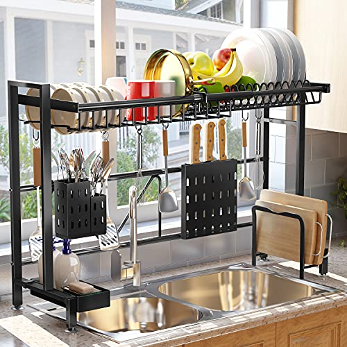 Over The Sink Dish Drying Rack, SAYZH Width Adjustable( Fit Small and...