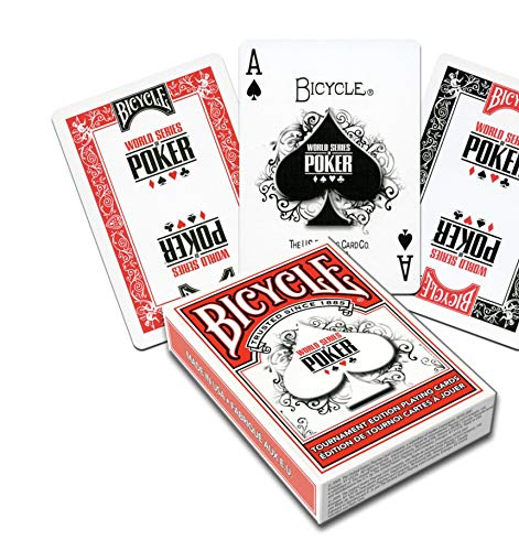 Bicycle WSOP Plastic Coated Playing Cards - 1 Red Deck Poker Size Regular Index by US Playing Card