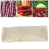 Nivvity Wurstschale, 8m x 22mm Wurst Hot Dog Hülle Doppelschicht essbare trocknende Wursthülle Schale Schinken Wurstherstellung Zubehör