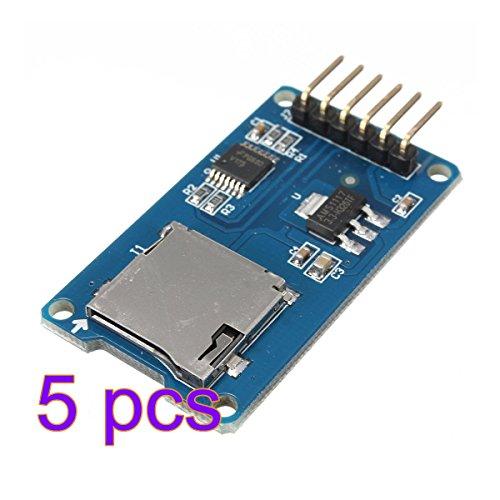 VI. Yo SD Karte Modul Micro SD TF Karte Speicherkarte Reader Modul SPI Shield für Arduino ARM MCU 5PCS blau 5 Pcs