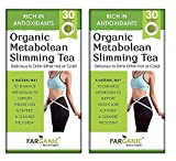Madow Metabolean Slimming Green Tea for Weight Loss Fast. Rich in Antioxidants, Improves Metabolism, Boost Immunity and Detox Body 30 Tea Bags (Pack of 2)