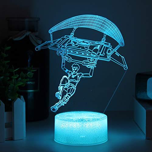 Spiel Paragliding 3D Illusion Lampe LED Nachtlicht,7 Farbe Tischlampe Kinder Geschenke RGB Stimmungs lampe für Geburtstag Festival Deko Geschenke