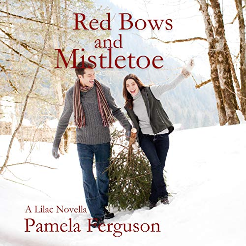 Red Bows and Mistletoe audiobook cover art
