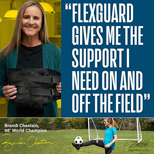 Lower Back Brace by FlexGuard Support - Lumbar Support Waist Backbrace for Back Pain Relief - Compression Belt for Men and Women - Back Braces for Sciatica, Scoliosis and Herniated Disc (Med/Large)