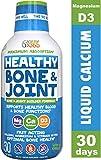 Liquid Calcium Magnesium with Vitamin D3 Liquid Sleep by Feel Great 365,...