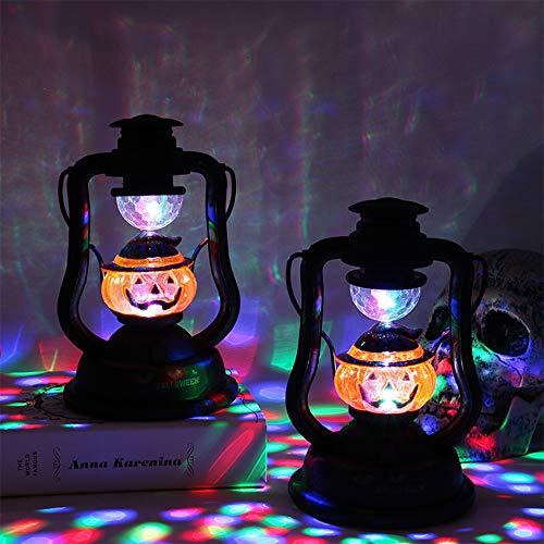 Wankd Halloween pompoen patroon lampion LED-lamp, werkt op batterijen, hanglampen, Halloween decoratie, rekwisieten, s nachts familie tuin kamer Halloween