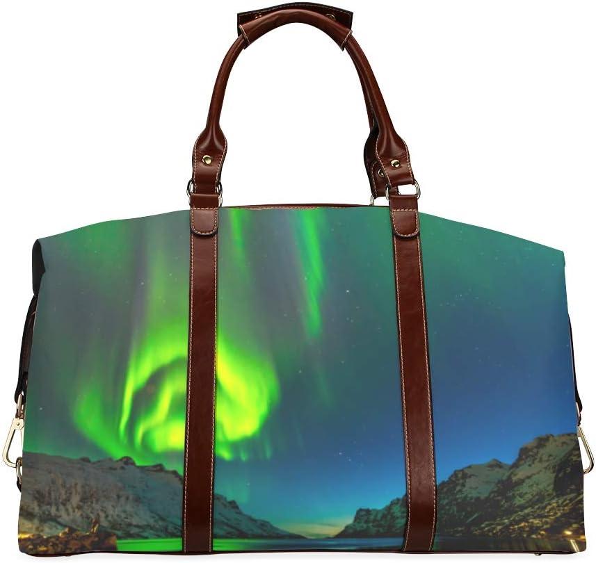 Outdoor Travel Duffel Topics on TV Bag Spectacular Green Store Aurora Clas Borealis