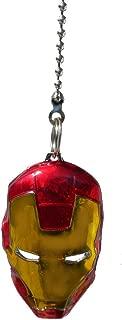 Marvel comics SUPER HERO superhero character PEWTER Ceiling FAN PULL light chain (Iron Man Mask - red & gold)