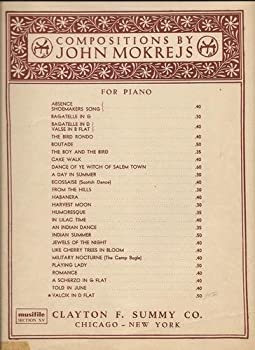 Sheet music Valcik in D Flat for Piano Book