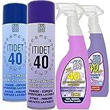 ITIDET SRL Confezione DETERGENTI VETRI : 1 40 Spray, 1 40 Liquido Lavanda,1 40 Spray PROFU...
