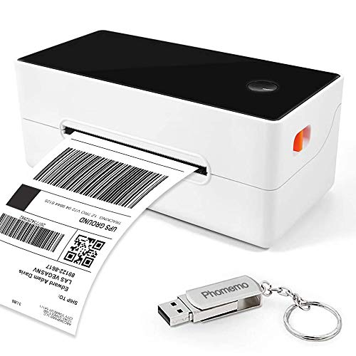 Phomemo Shipping Label Printer, 4x6 Thermal Printer for Shipping Labels High-Speed Desktop Package Postage Barcode Printer for FedEx UPS USPS Amazon Ebay Etsy Shopify USPS, Compatible with Windows Mac