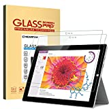 Microsoft Surface 3 Screen Protector 10.8 Inch(Not for 12' Surface Pro 3) , [2 Pack] Nearpow® Tempered Glass Screen Protector with [9H Hardness] [Easy Bubble-Free Installation] [Scratch Resist]
