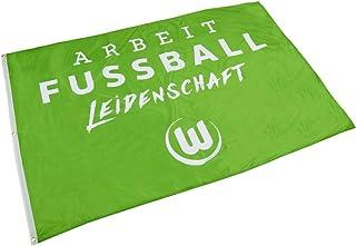 Flaggenfritze Hissflagge VFL Wolfsburg - 120 x 180 cm  gratis Aufkleber
