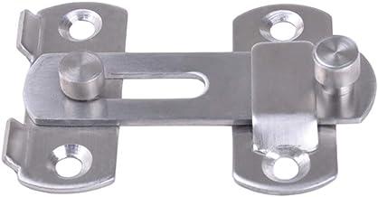 DOITOOL Deurvergrendelingen 4 inch veiligheid deurslot gespen klink bouten voor deur en raam (zilver)