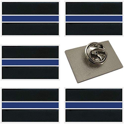 Thin Blue Line Lapel Pins - Honor The Men & Women Of Law Enforcement - 6 Pack