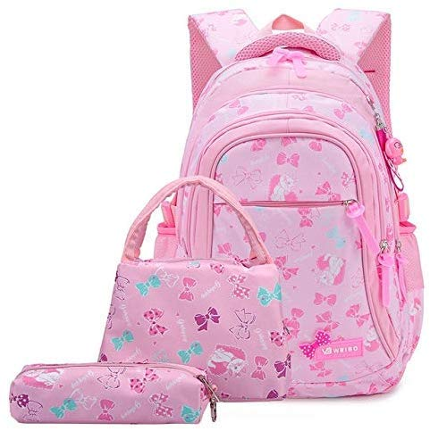 Llpeng Mochila Bolsos de Escuela Los niños Mochilas for niñas Adolescentes Impermeable del Bolso de Escuela del niño Ortopedia Schoolbags (Color : Pink1, Size : B)
