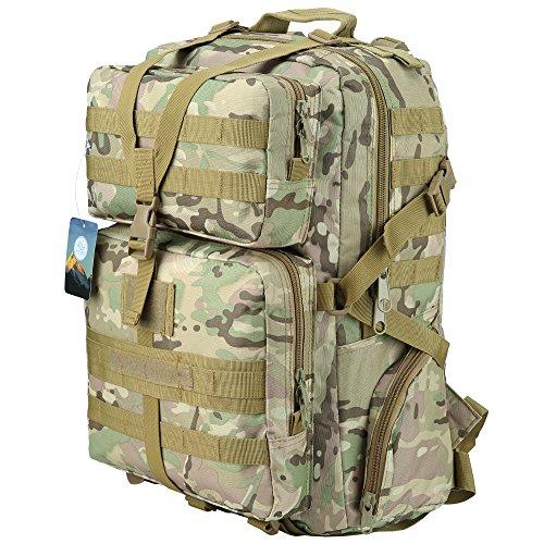 3. Mochila Táctica HUKOER 45L - La mochila para los más rudos