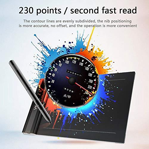 HXC - Tableta gráfica Profesional de 6 x 4 Pulgadas, con 8192 Niveles de sensibilidad a la presión, Compatible con Windows 10/8/7 y Mac VEIKK S640