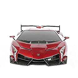 Best Toys for 10 Year Boys-RW 1/24 Scale Lamborghini Veneno Car, Red