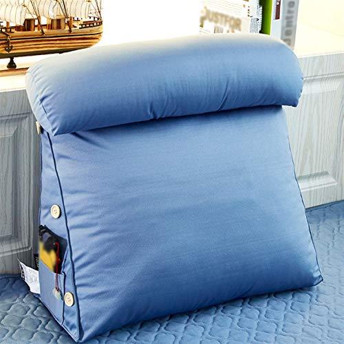 YXIAOJ Back Support Dreieck Kissen Keilkissen Kissen Sofa Bett Bürostuhl Rest Kissen mit Reißverschluss Waschbare Waschbare Lesekissen (Color : Light Blue, Size : 45 * 22 * 50)