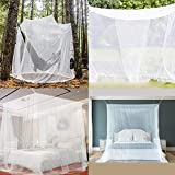 Moustiquaire Universelle carrée surdimensionnée, moustiquaire pour hamacs de lit ou Camping extérieur, Filet de Preuve d'insecte de Jardin 200x200x180cm