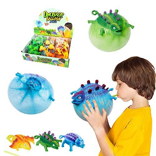 Wenosda Dinosaurier Ballon Ball Aufblasbare Kinder Blowing Dragon Vent Ballons Set Spielzeug Kinder Party Ball...