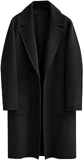 Cimaybeauty Womens Winter Lapel Button Long Trench Coat Jacket Ladies Parka Overcoat Outwear Lapel Pocket Long Sleeve Woolen Button