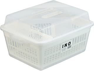イノマタ化学 クリアーフード付 水切りセット M型 約42×30.5×H23cm