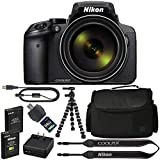 Nikon COOLPIX P900 Digital Camera: with 83x Optical Zoom and Built-in Wi-Fi(Black) + 64GB 1200X SDXC Card + 2 EN-EL23 Batteries + Case + Flexible Tripod + Pro Bundle: International Version