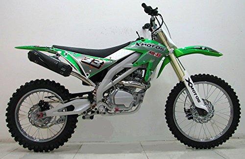 "ICS CBF33C Enduro Cross Dirt Bike Motorad 250CC/4 Takt Räder 21\""/18\"" 2015 Modell Neues Design Aprillia Stil Grün"
