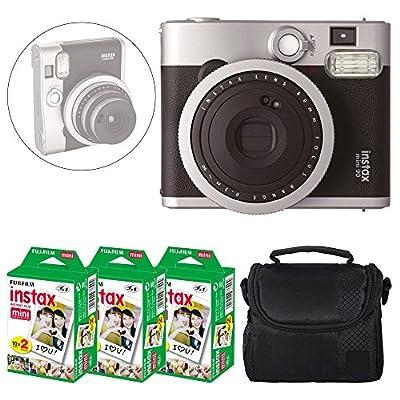 Fujifilm INSTAX Mini 90 Neo Classic Instant Camera (Black) + Fujifilm Instax Mini Instant Film (60 Exposures) + Camera Case – Deluxe Accessory Bundle by FUJIFILM