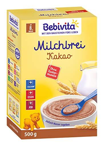 Bebivita Milchbrei Kakao ab dem 8. Monat, ohne Zuckerzusatz 500g
