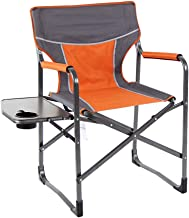Fishing Stool Portable Director's Chair Folding Camping Fishing Garden Chairs Breathable Mesh Aluminum Support 300lbs, Side Table Mini Folding Camping Stool (Color : Blue) HRTT (Color : Orange)