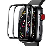 [2Pack]Aottom Protector de pantalla compatible con correa Apple Watch 40mm Series 5, [cobertura completa] [adsorcion anhidra] [no burbujas] cristal templado protector para iWatch 6/SE/5/4