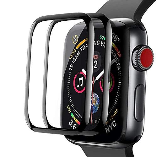 [2Pack]Aottom Protector de pantalla compatible con correa Apple Watch 40mm Series 5, [cobertura completa] [adsorcion anhidra] [no burbujas] cristal templado protector para iWatch 6/SE/5/4
