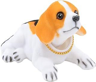 Ebow Dashboard Head Dogs Nodding Heads Car Dash Ornaments Puppy for Car Vehicle Decoration (Biggar)