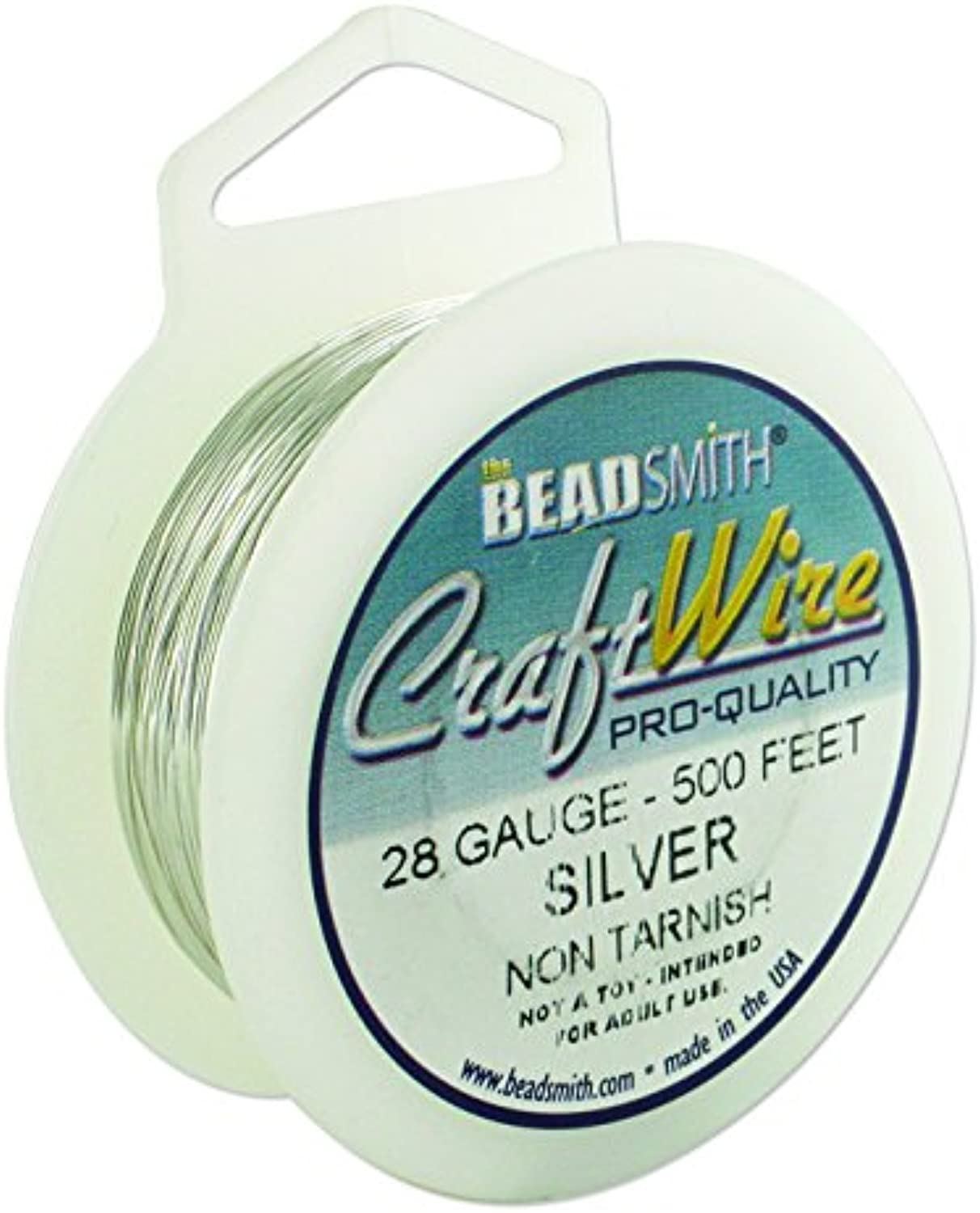 Beadsmith Non Tarnish Craft Wire (28 Silver)