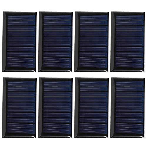 Emoshayoga 8PCS 5V Mini células solares DIY Placa de epoxi Solar Panel de Cargador Solar Panel Solar de silicio policristalino para iluminación Solar de jardín Publicidad Solar al Aire Libre