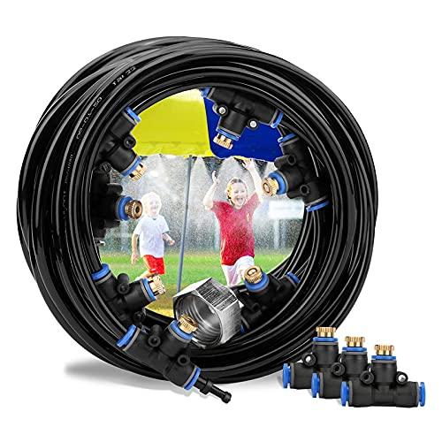 Ledph Nebulizador Portatil Terraza, Microaspersores de Riego Nebulizador Sistema de Enfriamiento, DIY Nebulizador Jardin Kit Completo, Difusores Agua...