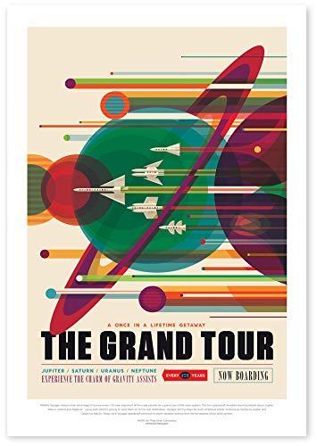 "Nukular Kunstdruck Poster A3 ""Grand Tour"" Original NASA (JPL) Design"