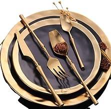 Stainless Steel Cutlery Set Gold Dinnerware Set Western Food Cutlery Tableware Dinnerware - plate not included