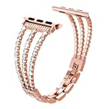 Duradero Enlace Correa for Apple Watch 6 5 4 SE 3 2 Strap 38mm 42mm for iWatch Series 4/3 Strap Strap Sports Strap 40mm 44mm accesorios de reloj ( Band Color : Rose gold , Band Width : 38mm or 40mm )