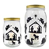 Nativity Mason Jar Decals Religious Stickers for Christmas Decoration VBS Party Favor 384Pcs
